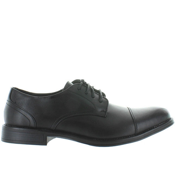 Deer Stags Mode - Waterproof Black Leather Cap Toe Oxford