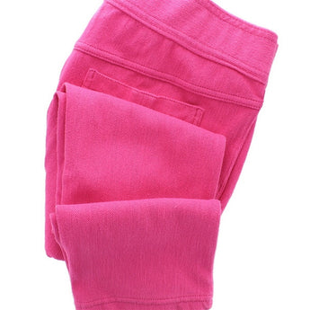 Hue Classic Jeans Capri - Hot Pink Denim Capri Leggings