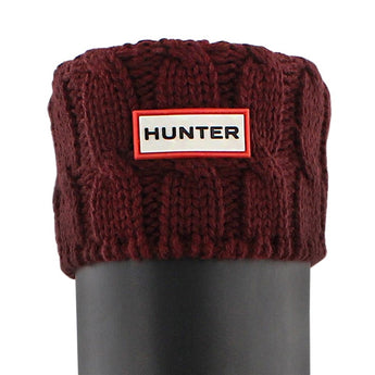 Hunter 6 Stitch Cable Knit Sock - Dulse Boot Sock