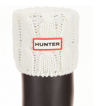 Hunter 6 Stitch Cable Knit Sock - Natural White Boot Sock