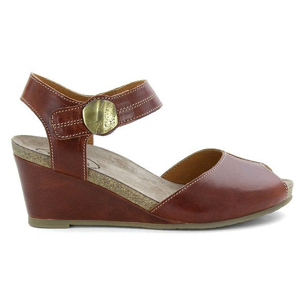 Taos Penelopeep - Sienna Leather Wedge Sandal