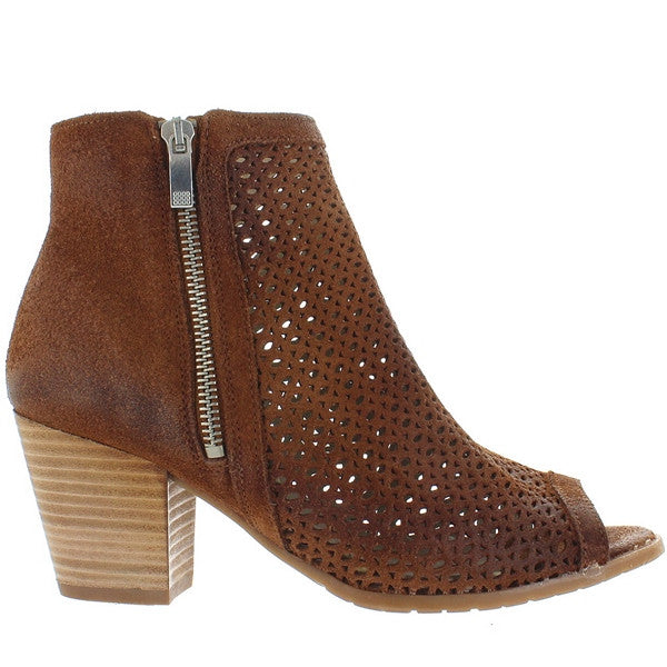 Eric Michael Leah - Whiskey Leather Laser-Cut Sandal Bootie