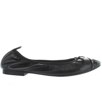 Restricted Chocolate - Black Elasticized Ballet Flat