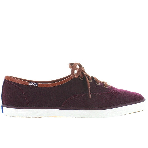 Keds Champion - Burgundy Wool Lace-Up Sneaker