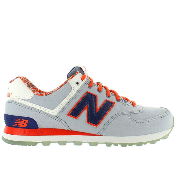 New Balance 574 - Luau Grey/Navy/Orange Running Sneaker
