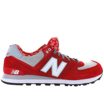 New Balance 574 - Paisley Red/Grey Running Sneaker