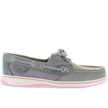 Sperry Top-Sider Bluefish - Charcoal/Pink Leather/Mesh Boat Moc