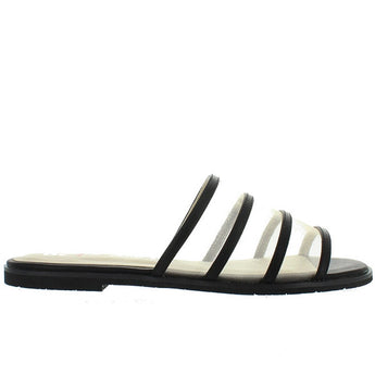 BC Show Me How - Black/Metallic Mesh Flat Slide Sandal