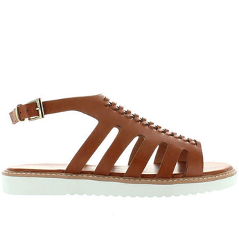 BC Something About You - Brown Huarache-Style Low Wedge Sandal