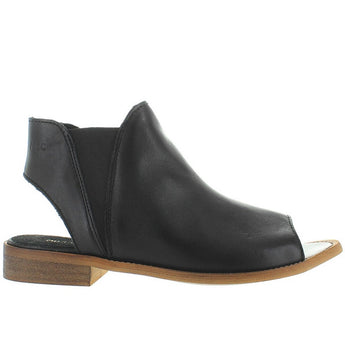Musse & Cloud Ciara - Black Leather Pull-On Sandal Bootie