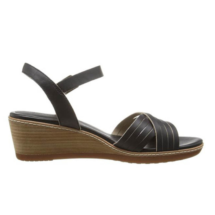 Timberland Earthkeepers Wollaston - Black Leather Wedge Sandal