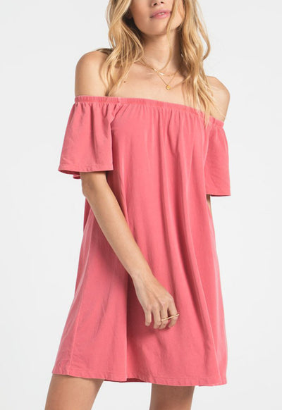 Z Supply - The Layla Tea Rose Jersey Mini Dress