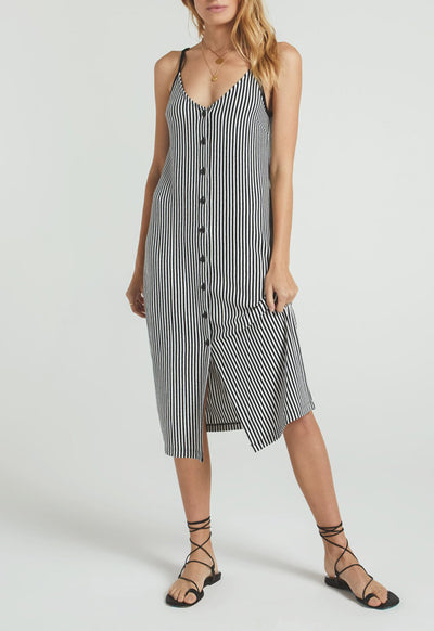 Z Supply - The Black/Desert White Multi Rosa Stripe Midi Dress