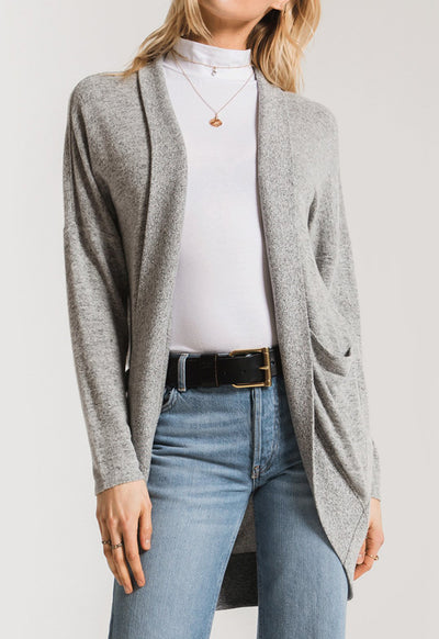 Z Supply - The Marled Cocoon Heather Grey Long Knit Sweater
