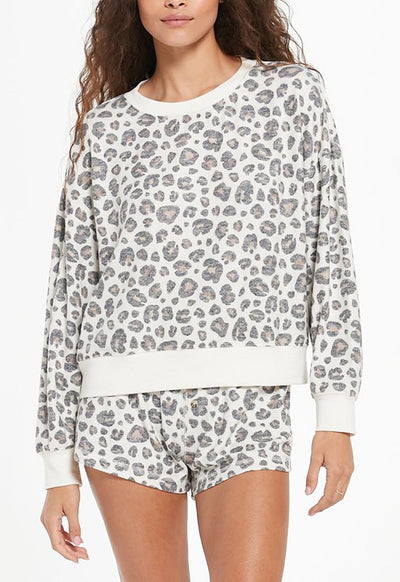 Z Supply - Elle Leo Long Sleeve Top Bone