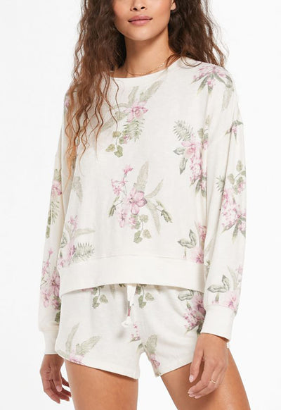 Z Supply - Elle Floral Top Bone