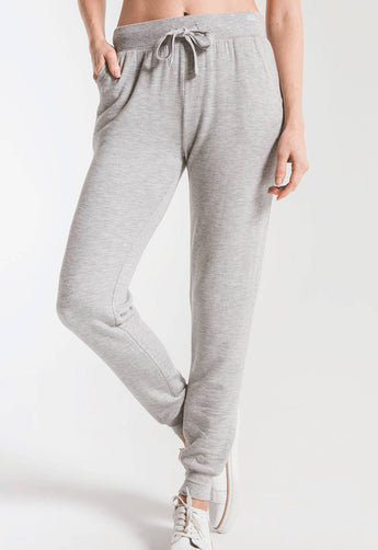 Z Supply - The Premium Fleece Heather Grey Jogger