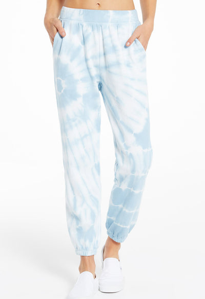 Z Supply - Emery Spiral Tie Dye Jogger Blue