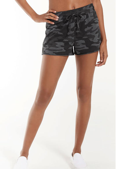 Z Supply - The Camo Sporty Short Dark Charcoal