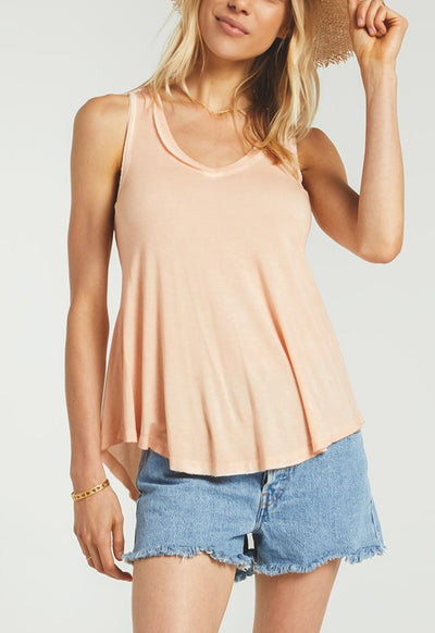 Z Supply - Apricot Vagabond Flared Sleeveless Top