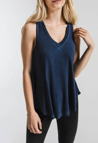 Z Supply - Black Iris Vagabond V Neck Sleeveless Top