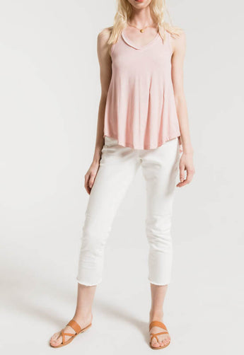 Z Supply - Pale Blush Vagabond V Neck Sleeveless Top