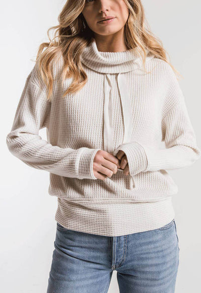 Z Supply - The Cowl Neck Waffle Thermal Top