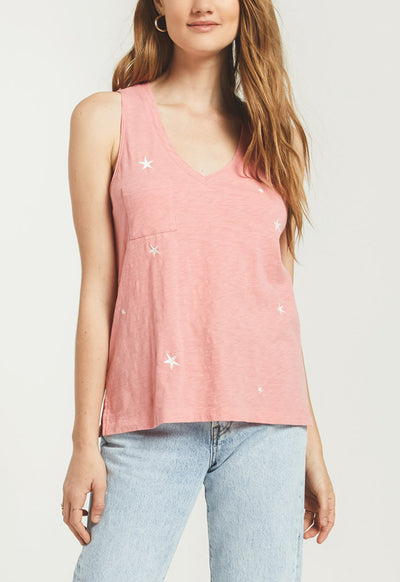 Z Supply - The Sunset Star Pink Sorbet Tank Top