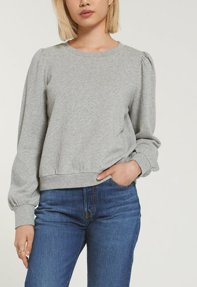 Z Supply - The Heather Grey Zoe Sweatshirt