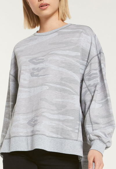 Z Supply - Heather Grey Multi Camo Weekender Top