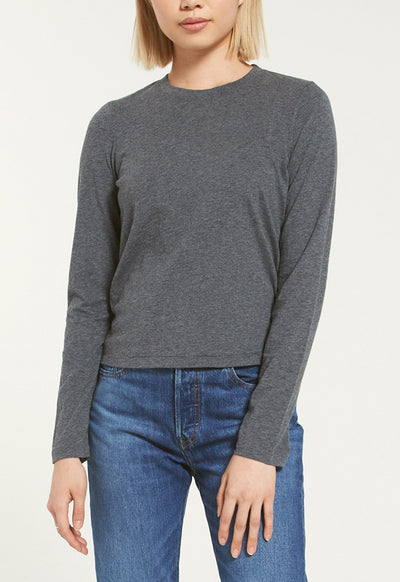 Z Supply - The Charcoal Modern Jersey Long Sleeve Shirt