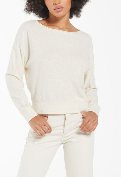 Z Supply - Naiser Slub Long Sleeve Top Bone