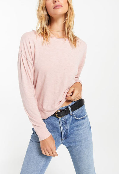 Z Supply - Naiser Slub Long Sleeve Top Pink Blossom