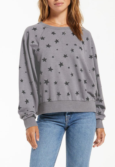 Z Supply - Marella Star Pullover Charcoal