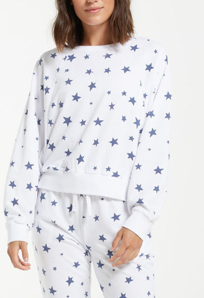 Z Supply - Marella Star Pullover White