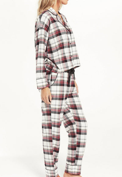 Z Supply - Dream State Plaid PJ Set Vanilla Ice