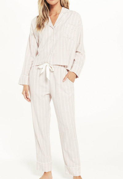 Z Supply - Dream State Stripe PJ Set Dusty Rose