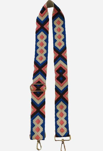 Ahdorned - Blue Pink Aztec Bag Straps