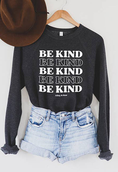 Alley & Rae - Be Kind Charcoal Grey Sweatshirt