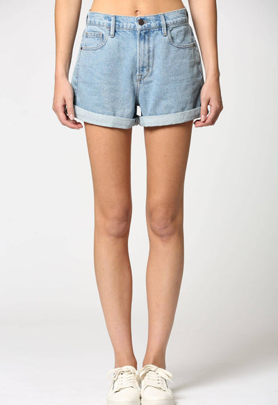 Hidden Jeans - Rolled Hem Classic Light Wash Shorts