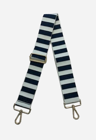 Ahdorned - Navy White Horizontal Stripe Strap