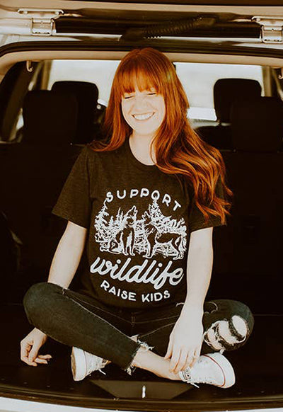 Alley & Rae - Support Wildlife Black Tee Shirt