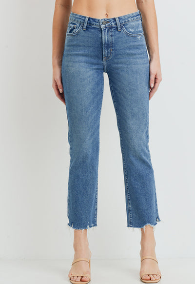 Just Black Denim - Medium Denim High Rise Vintage Straight Jeans