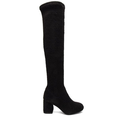 Seychelles Act One- Black Quilted Over-the-Knee Boot