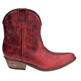 "Dingo DI695 7"" Zip Adobe - Dark Red Western Bootie"