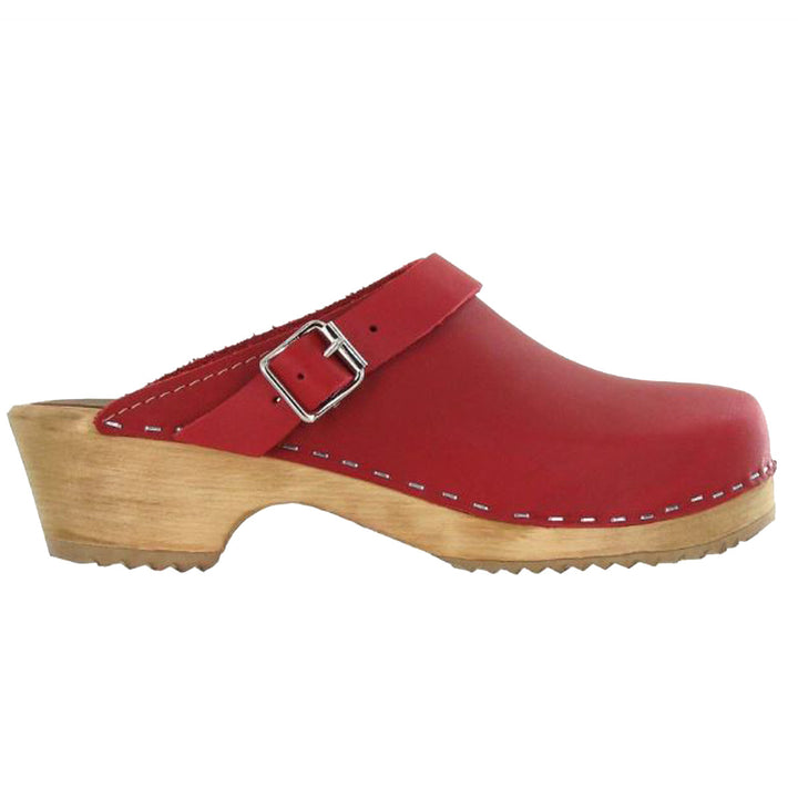 MIA Alma - Red Leather Classic Clog
