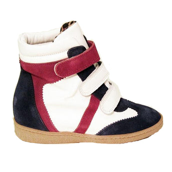 MTNG Amberes - Navy / White / Red Wedge Sneaker