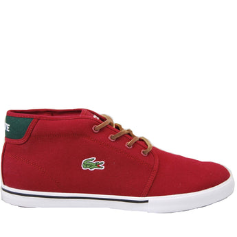 Lacoste- Amphill Dark Red Mid-Top Sneaker