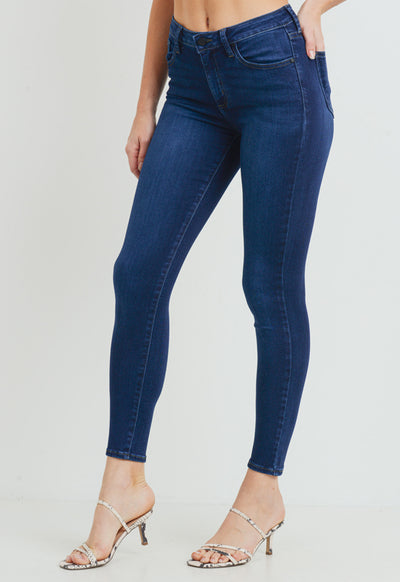 Just Black Denim - 5 Pocket Classic Skinny Jean Dark Denim