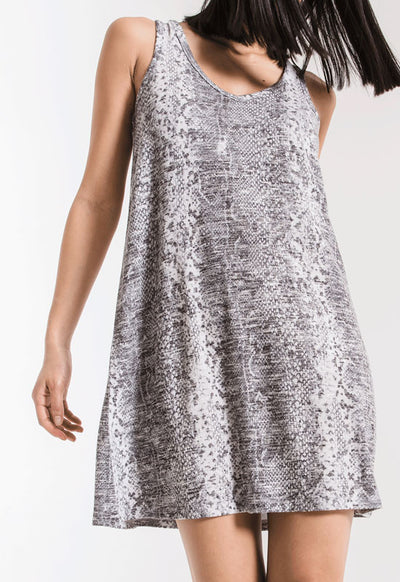 Z Supply - The Snakeskin Grey Print Breezy Dress